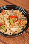 Rice with chicken and vegetable