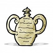 cartoon old clay pot