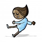 happy dancing girl cartoon