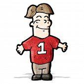 cartoon man in sports shirt