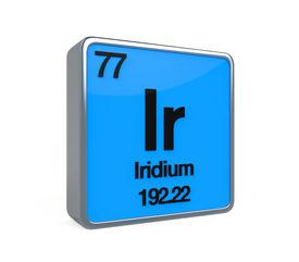 stock photo of periodic table elements  - Iridium Element Periodic Table isolated on white background - JPG