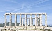 stock photo of poseidon  - Great Temple of Poseidon in Cape Sounio - JPG
