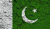 foto of pakistani flag  - Flag of Pakistan with old texture - JPG