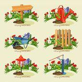 image of ripper  - Realistic design of garden tools - JPG