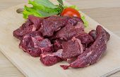 picture of deer meat  - Raw wild venison meat  - JPG