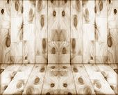 stock photo of refraction  - Old wooden wall background texture pattern angle of refraction room - JPG