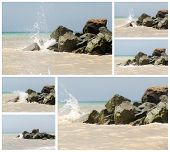 picture of azov  - Stones on the bank of the sea of Azov  - JPG
