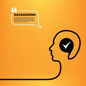 image of confirmation  - Head think with speech bubble - JPG