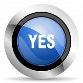 picture of yes  - yes icon  original modern design for web and mobile app on white background   - JPG