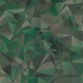 stock photo of camouflage  - Abstract  Military Camouflage Background Made of Geometric Triangles Shapes - JPG