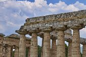 image of ceres  - Close up of Temple of Hera in Paestum - JPG