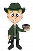 foto of hunters  - Illustratior of adventurer archeologist  - JPG