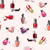 picture of nail paint  - Drawing vector illustration with nail polish and splash paint - JPG