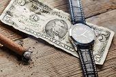 foto of cigar  - Dollar - JPG