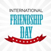 image of friendship day  - illustration of a beautiful text with ribbon for Friendship Day - JPG