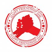 foto of friendship day  - illustration of a grungy stamp for Happy Friendship Day - JPG