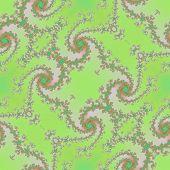 foto of mandelbrot  - Fractal green floral pattern texture or background - JPG