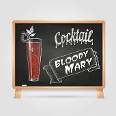 Постер, плакат: Chalk Drawings Cocktail