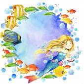 picture of mermaid  - underwater world - JPG