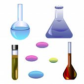 image of chemical reaction  - Set chemical items - JPG