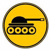 image of panzer  - Panzer button on white background - JPG