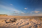 pic of glorious  - Glorious sand dune in the distance over an empty tidal lagoon - JPG