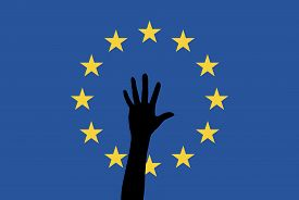 image of safe haven  - Symbol for the increasing arrivals of asylum seekers and refugees in Europe - JPG