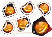 Halloween stickers. Vector.