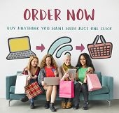 Online Shopping Web Shop E-shopping Concept poster