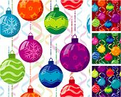 Christmas balls. Seamless vector background.