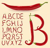 picture of mexican food  - Chilly typeface - JPG