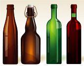 Bottles. Vector.