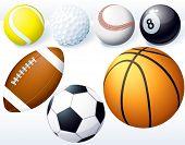 Game balls. Vector set.