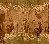 Autumn Vines Vintage Grunge Background