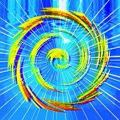 Vector Hurricane Abstract