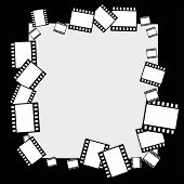 Vector Filmstrip Border Frame