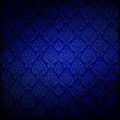 Royal Blue Dark Damask Background, Tile Seamlessly