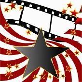 Vector Film Strip Stars And Stripes