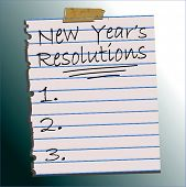 Vector New Year's Resolutions List