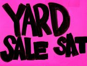 Real Yard Sale Sign