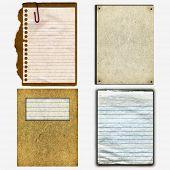 Itens de papelão e papel reais