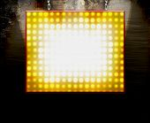 Theater Marquee Lichter Plakat-Sign-on Grunge Mauer