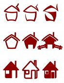 Vector version. Real estate symbols for design and decorate. Jpeg version also available