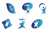 Vector version. Isolated people signs and symbols for design. Jpeg version also available
