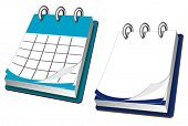 Calendar icon in two variations for web design. Jpeg version also available