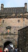 Tourists Visiting Edinburgh Castle poster