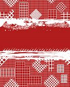 Grunge red background with white cages