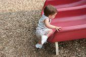 Baby Girl Climbing