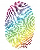 picture of gay pride  - Rainbow Finger Print - JPG