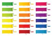 foto of paint brush  - Paint Rollers with various colors - JPG